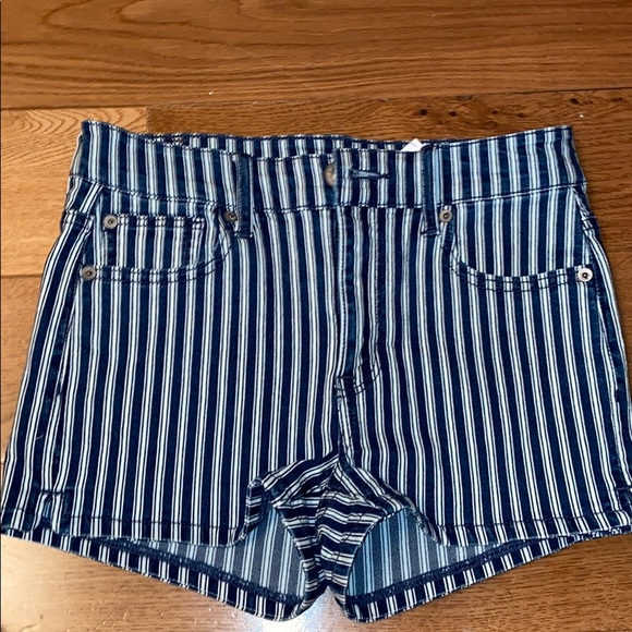 Stripped American Eagle Jean Shorts